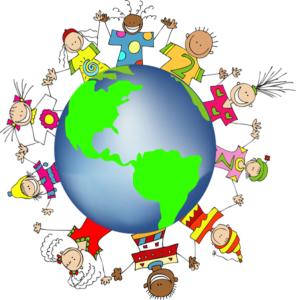kids holding hands around the world